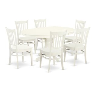 Emmaline 7 Piece Solid Wood Dining Set by..
