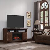 Manasi TV Stand for TVs up to 65 with Fuel Type Fireplace Included by Red Barrel Studio®