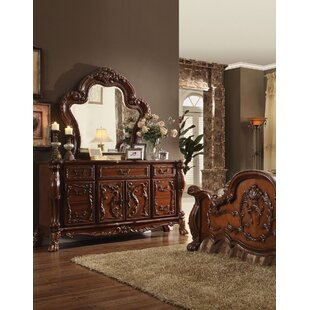 Astoria Grand Selma 7 Drawer Combo Dresser with Mirror