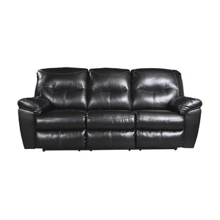 Burkes Reclining Sofa Red Barrel Studio
