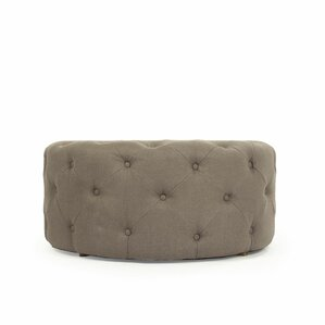 Round Tufted Ottoman by One Allium Way