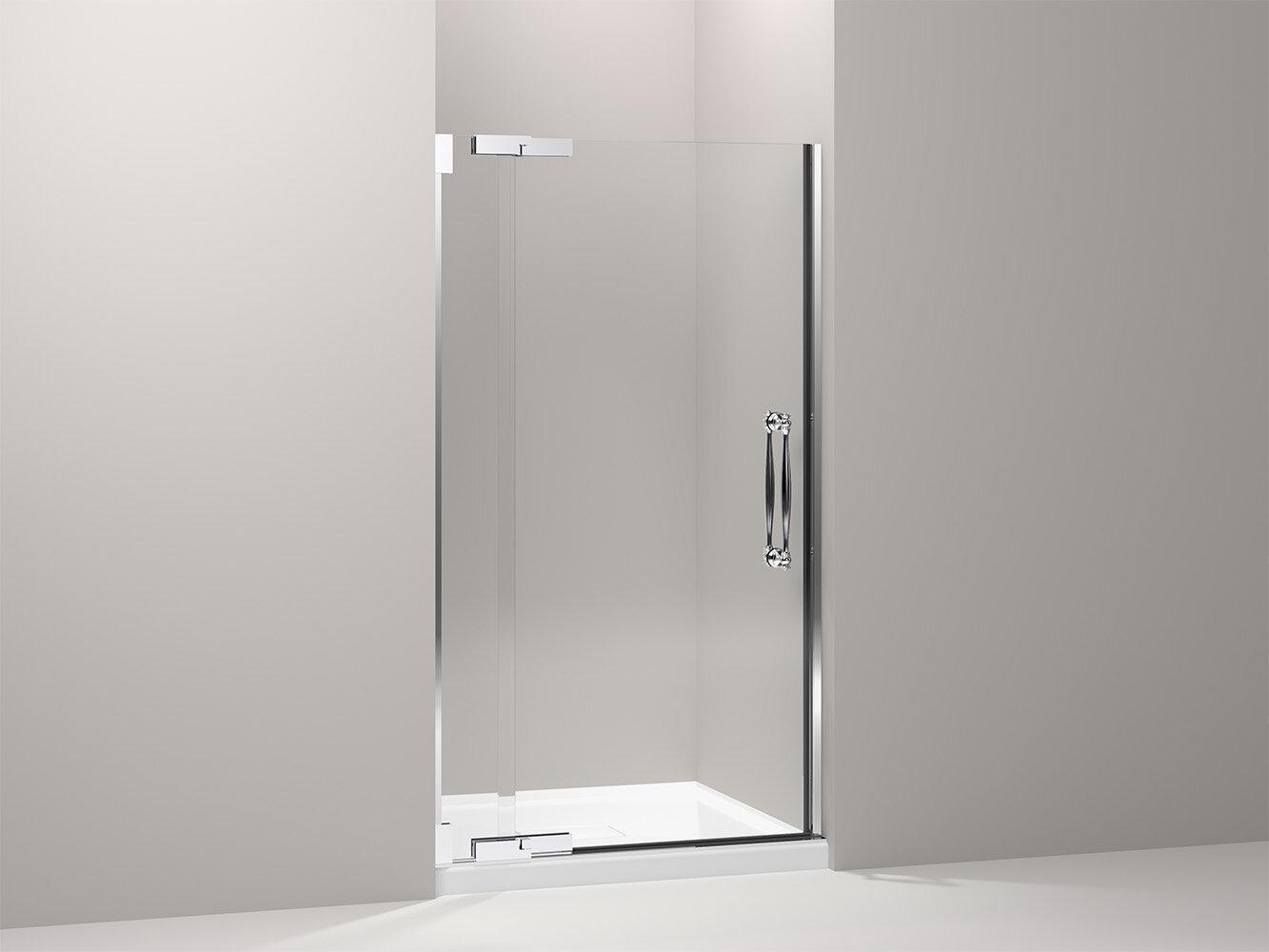 K-705751-L-NA Kohler 34\'\' x 71.38\'\' Pivot Shower Door with CleanCoat ...