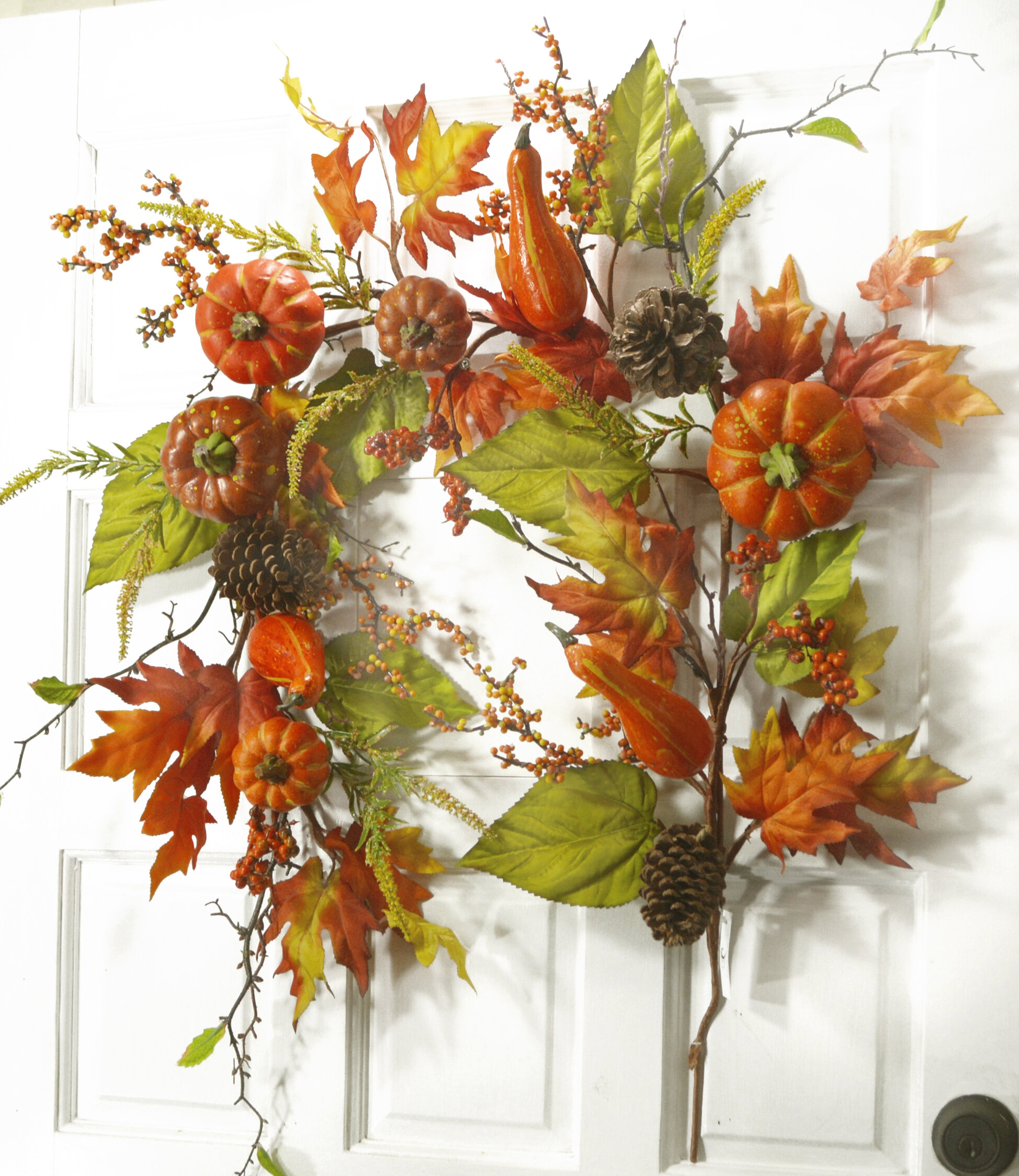 August Grove 6 Pumpkin Berry And Fall Leaf Garland Wayfair