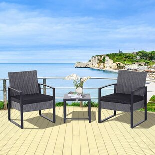 Lundholm 2 Seater Bistro Set With Cushion Image