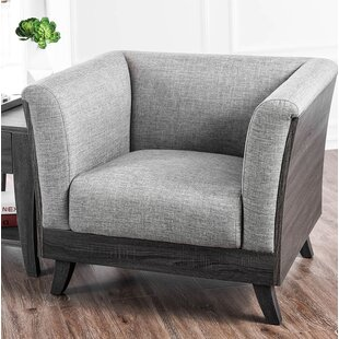 Union Rustic Brode Fabric Angled Leg Chair
