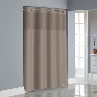 Dobby Texture Shower Curtain By Hookless