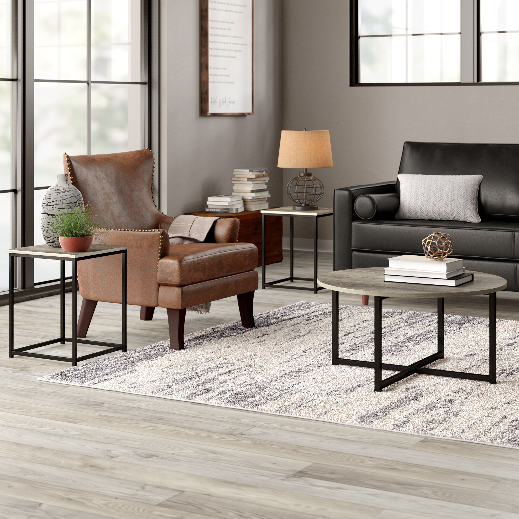 Round Coffee Table Sets You Ll Love In 2020 Wayfair