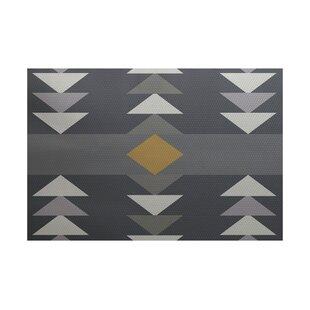 Poole Geometric Print Gray Indoor/Outdoor Area Rug