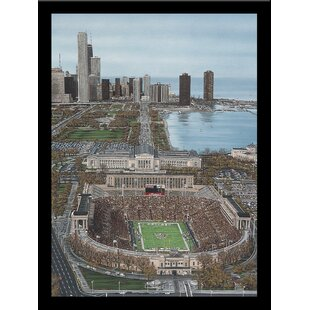 'Chicago's Soldier Field' Print Poster by Darryl Vlasak Framed Memorabilia by Buy Art For Less