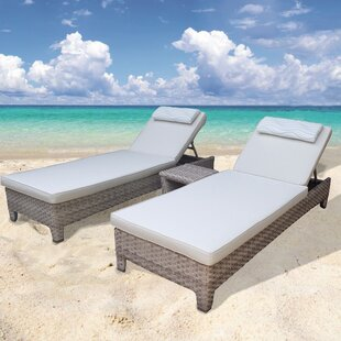 Galen 3 Piece Chaise Lounge Set with Cushion