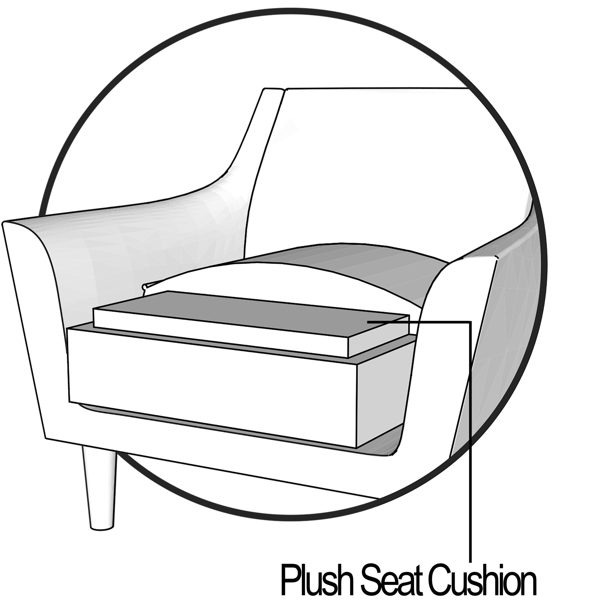 Plush Seat Cushion