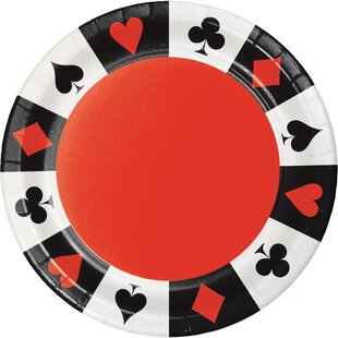 Card Night Paper Dessert Plate (Set of 24)