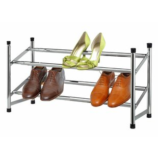 Best Review Expandable 2-Tier 6 Pair Shoe Rack By Sunbeam