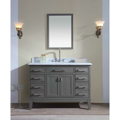 "Bathroom Vanities Nashville Tn ari kitchen & bath jude 48"" single bathroom vanity set & reviews"