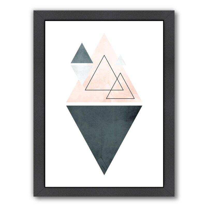 East Urban Home Geometric Art 37 Framed Graphic Art Wayfair