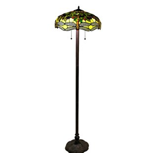 Warehouse of tiffany floor lamps youll love wayfair verde 61 floor lamp by warehouse of tiffany audiocablefo
