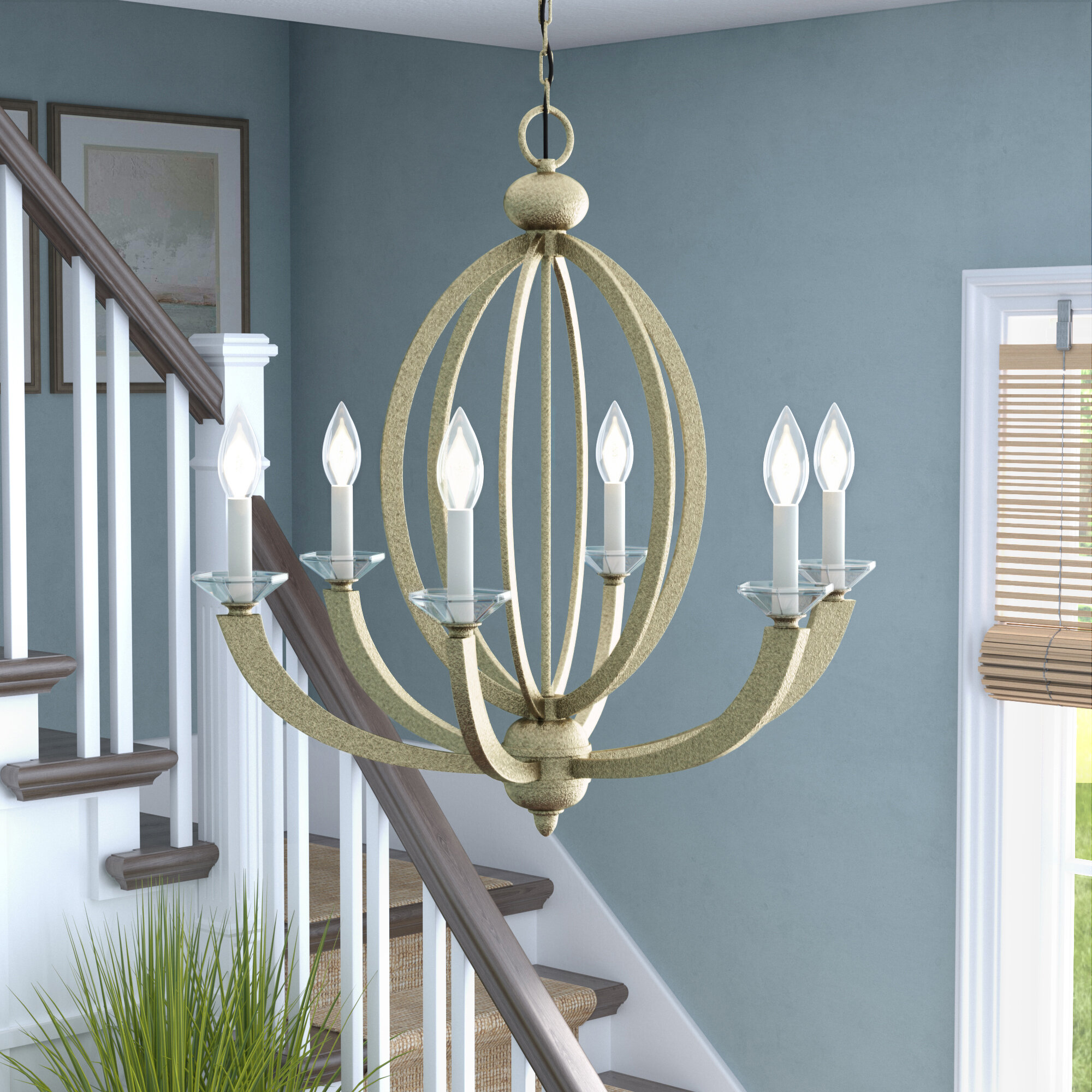 Beachcrest Home Bemot 6-Light Candle-Style Chandelier & Reviews ...