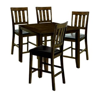 Kasey Wooden 5 Piece Counter Height Dining Table Set