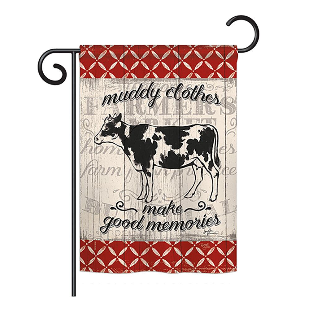 Breeze Decor Farm Cow Nature Everyday Farm Animals Impressions 2 Sided Polyester 18 5 X 13 In Garden Flag Wayfair