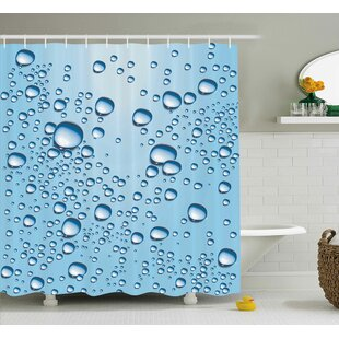 Water Marks Modern Decor Single Shower Curtain