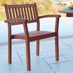 Varina Stacking Patio Dining Chair (Set of 2)