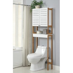 Rendition 23.625 W x 70.25 H Over the Toilet Storage by Organize It All