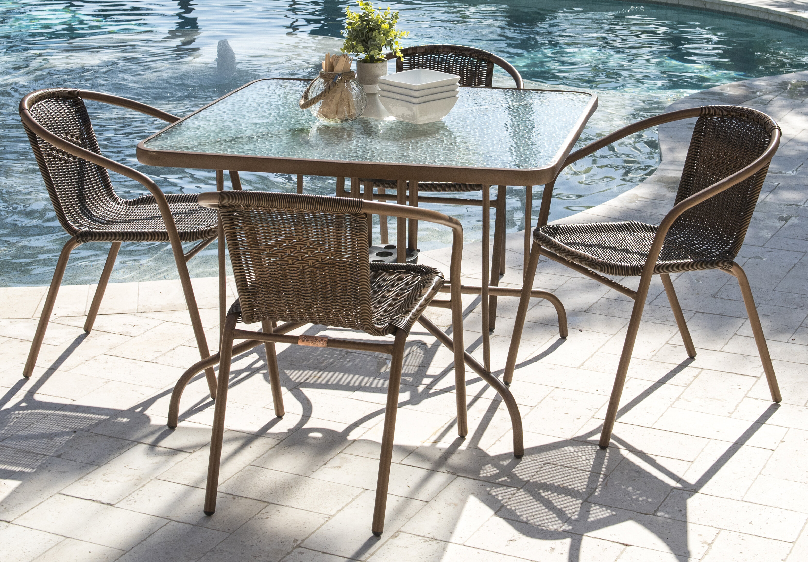 Charmant Panama Jack Café Dining Set | Wayfair