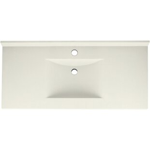 Coupon Contour Solid Surface 49 Single Bathroom Vanity Top By Swan