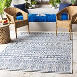 Gunter Power Loom Blue/Khaki Rug