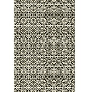 Triston Quad European Design Black/White Indoor/Outdoor Area Rug