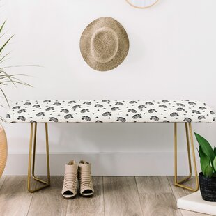 Little Arrow Co Modern Zebras Upholstered Bench by East Urban Home