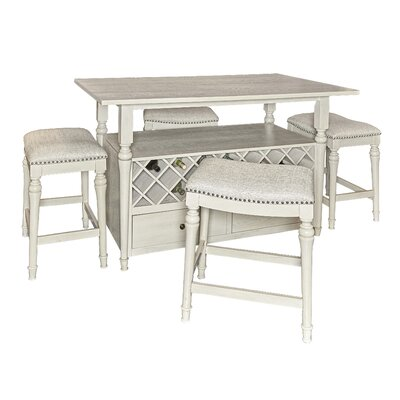 Abby 5 Piece Pub Table Set by Alcott Hill