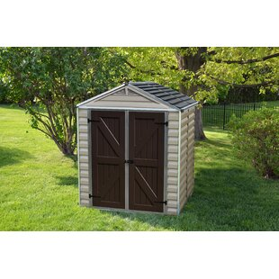 Palram SkyLight™ 6 ft. 1 in. W x 5 ft. D Polycarbonate Storage Shed