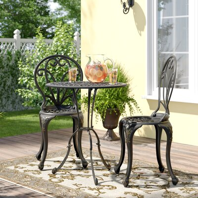Tenafly 3 Piece Bistro Set by Fleur De Lis Living Best Choices