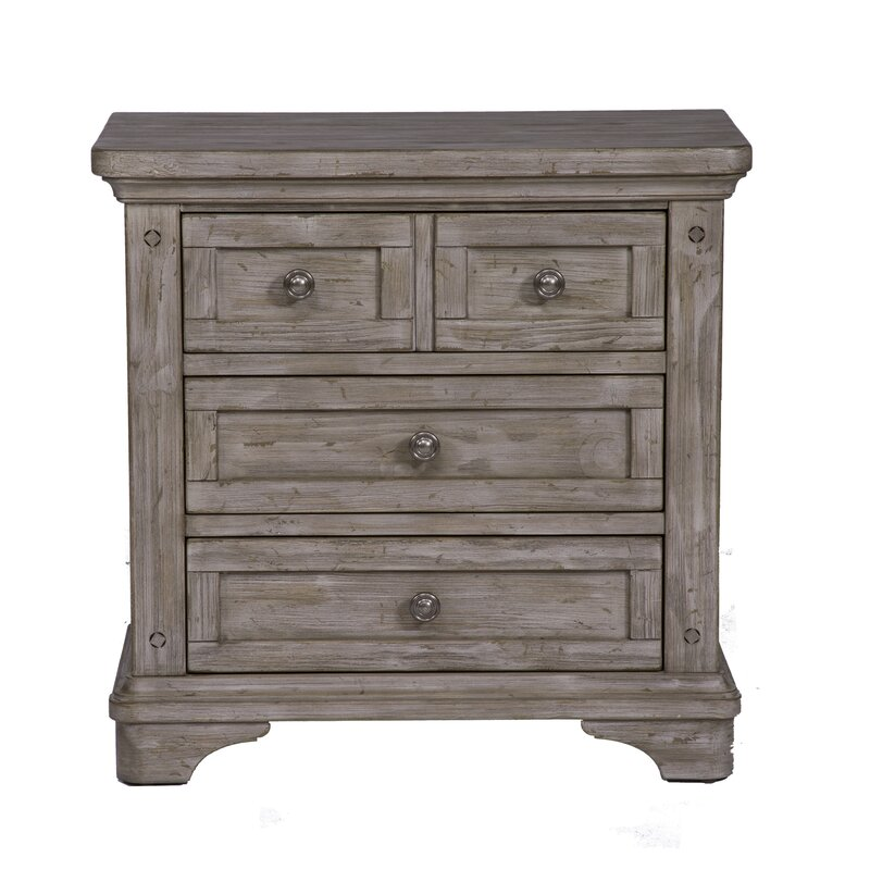 Barkell 3 Drawer Nightstand