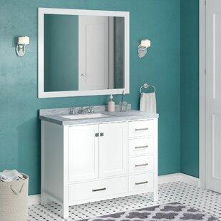 Marine 42 inch  Single Bathroom Vanity Set with Mirror
