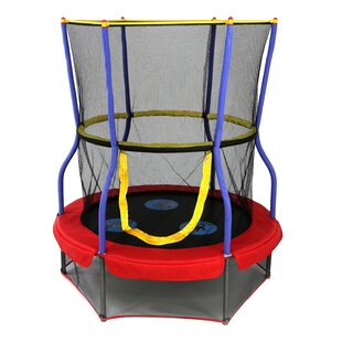 Skywalker Trampolines Zoo Adventure Bouncer Trampoline 4' Round with Safety Enclosure