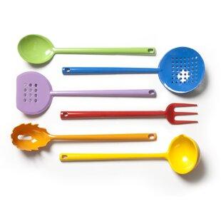 6-Piece Rainbow Melamine Kitchen Tool Set by Excelsa