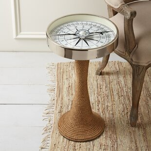 Comparison Valentine Working Compass End Table By Longshore Tides