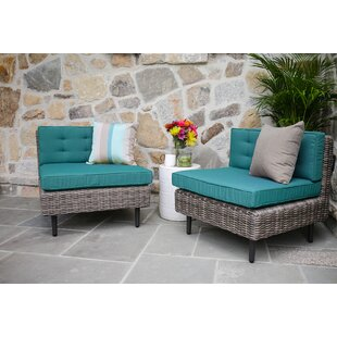 Kenn Patio Chair with Sunbrella Cushions (Set of 2)
