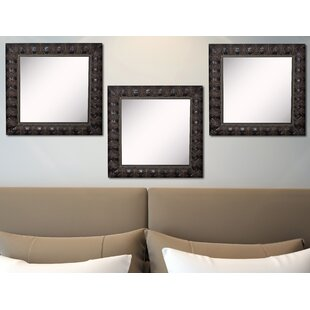 Astoria Grand Derrik Feathered Accent Wall Mirror (Set of 3)
