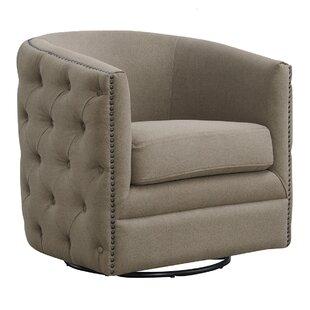 Abbigayl Swivel Barrel Chair by Red Barrel Studio