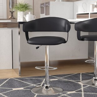 Surprising Tuller Adjustable Height Swivel Bar Stool By Wade Logan Best Creativecarmelina Interior Chair Design Creativecarmelinacom