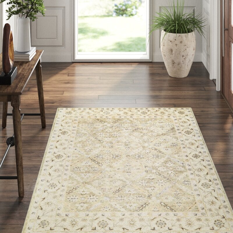 Feizy Corsham Oriental Handmade Tufted Wool Green Ivory Gray Area Rug Reviews Perigold