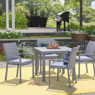 Mercury Row Iota 5 Piece Dining Set with Cushions