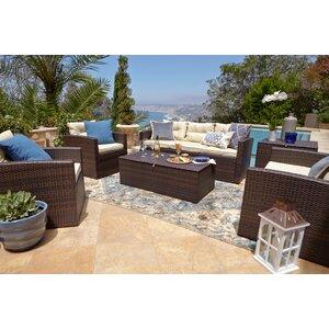 Dashawn 6 Piece Sofa Set with Cushions