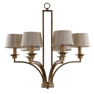 Tatum Crafstman 6-Light Shaded Chandelier by Alcott Hill
