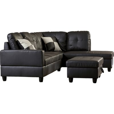 Tremendous Andover Mills Russ Sectional With Ottoman Orientation Right Alphanode Cool Chair Designs And Ideas Alphanodeonline