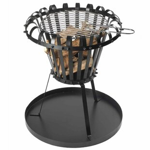 Aryan Perel Fire Basket With Ash Pan Round Fire Pit Image