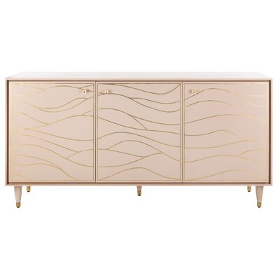 House of Hampton Clarkfield Wave Sideboard Color: Peach